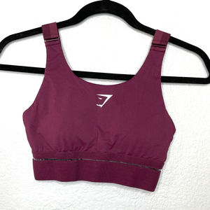 Gymshark Sports Bra Maroon Size Small